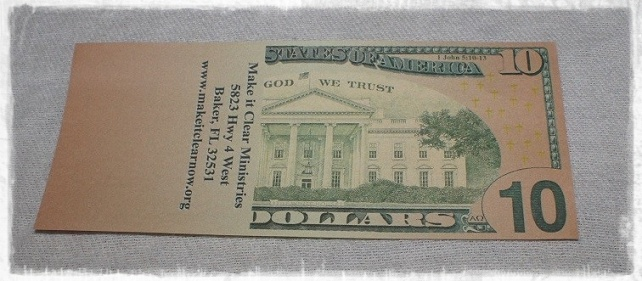 Ten Dollar Bill Tract