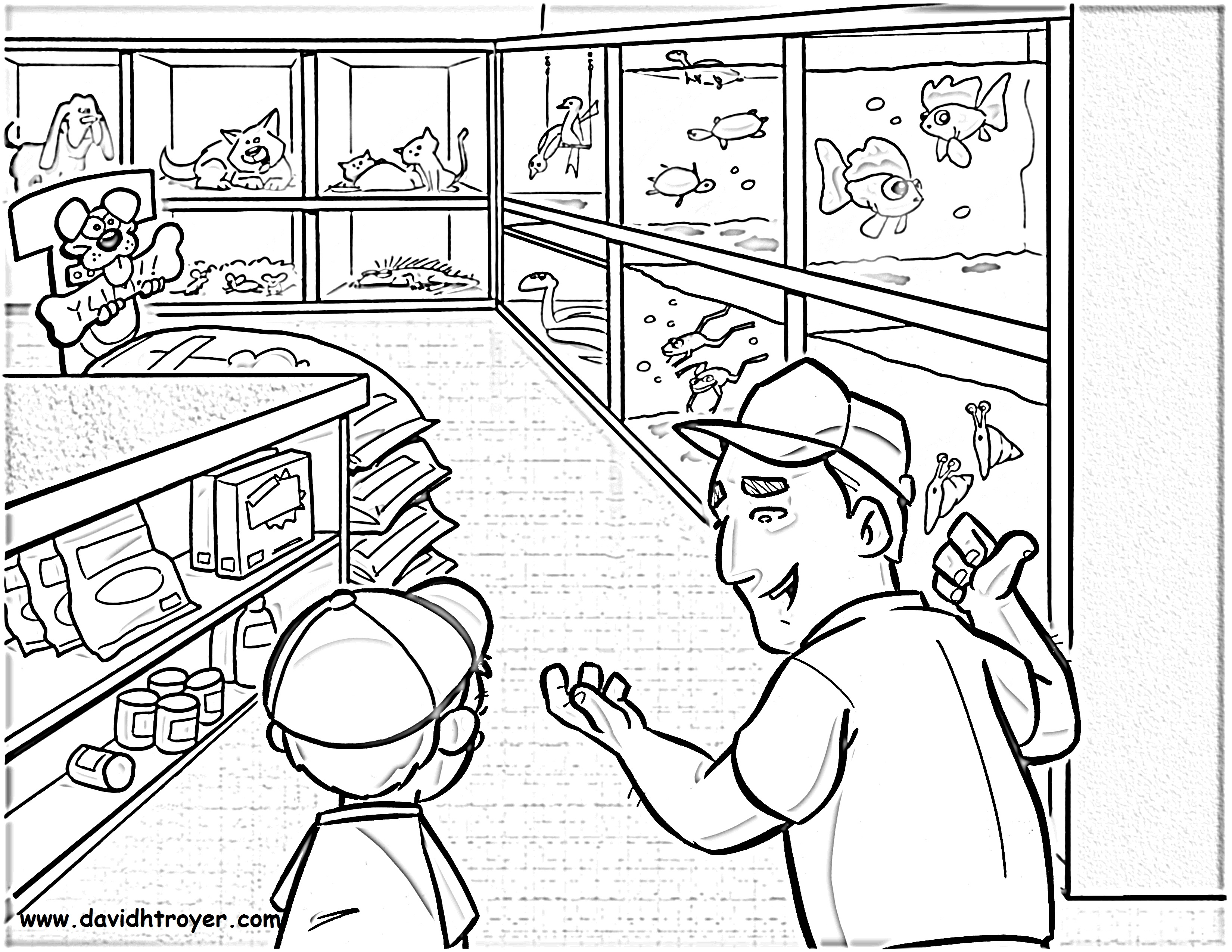 coloring pages stores - photo#8